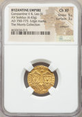 Ancients:Byzantine, Ancients: Constantine V Copronymus (AD 741-775), with Leo IV. AVsolidus (20mm, 4.43 gm, 6h). NGC Choice XF 5/5 - 3/5, crimped, edgemar...