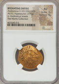 Ancients:Byzantine, Ancients: Andronicus II Palaeologus (AD 1282-1328). AV/ELhyperpyron (25mm, 3.95 gm, 6h). NGC AU 3/5 - 4/5....
