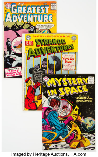 DC Silver Age Science Fiction Comics Group of 9 (DC, 1950s-60s
