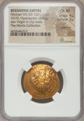 Ancients:Byzantine, Ancients: Michael VIII Palaeologus (AD 1261-1282). AV/EL hyperpyron(25mm, 4.06 gm, 6h). NGC Choice XF 4/5 - 3/5, scratches....