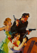 Mainstream Illustration, Emery Clarke (American , 20th Century). The Phantom Gunman,Action Stories pulp cover, August 1935. Oil on canvas. 31 x ...