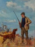Mainstream Illustration, Howard L. Hastings (American, 1930-1933). Game Laws, Field &Stream magazine cover, November 1933. Oil on canvas. 32 x 2...