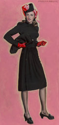 Mainstream Illustration, McClelland Barclay (American, 1891-1943). The Little BlackDress. Oil on board. 31.25 x 15 in.. Signed upper right....