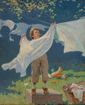 Mainstream Illustration, Victor Coleman Anderson (American, 1882-1937). A Man in the Making, Life magazine cover, May 25, 1922. Oil on canvas. 20...