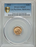 1903 G$1 Louisiana Purchase, McKinley Gold Dollar MS65 PCGS. PCGS Population: (630/643 and 3/32+). NGC Census: (390/467...