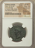 Ancients:Roman Imperial, Ancients: Nero (AD 54-68). AE as (28mm, 8.20 gm, 6h). NGC Choice VF5/5 - 3/5, lt. smoothing....