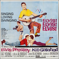 "Kid Galahad (United Artists, 1962). Folded, Very Fine-. Six Sheet (79"" X 80""). Elvis Presley"