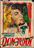 "Movie Posters:Foreign, Don Juan (Roma, R-1960s). Folded, Fine+. Italian 4 - Fogli (55"" X 78"") Williams Artwork. Foreign.. ..."