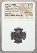 Ancients:Roman Imperial, Ancients: Augustus (27 BC-AD 14). AR denarius (19mm, 3.45 gm, 9h).NGC Fine 4/5 - 2/5, bankers marks....