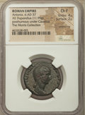 Ancients:Roman Imperial, Ancients: Antonia Minor, mother of Claudius (died AD 37). AEdupondius (26mm, 11.99 gm, 6h). NGC Choice Fine 4/5 - 2/5,smoothing....