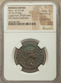 Ancients:Roman Imperial, Ancients: Nero (AD 54-68). AE as (28mm, 9.56 gm, 6h). NGC Fine, 4/5- 3/5, countermark....