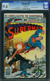 Superman #301 (DC, 1976) CGC NM+ 9.6 White pages