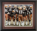 Autographs:Photos, Cleveland Browns Multi-Signed Framed Photograph (6 Signatures)....