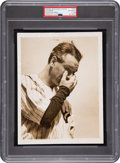 "Baseball Collectibles:Photos, 1939 Lou Gehrig ""Luckiest Man"" Speech Original News Photograph, PSA/DNA Type 1...."