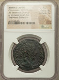 Ancients:Roman Imperial, Ancients: Commodus (AD 177-192). AE sestertius (33mm, 20.64 gm,10h). NGC AU 4/5 - 1/5....