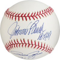 Johnny Bench & Pete Rose Dual-Signed & Inscribed Baseball