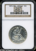 Seated Half Dollars: , 1855/54 50C Arrows MS64 NGC FS-005....