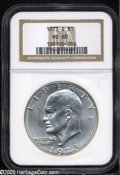 Eisenhower Dollars: , 1973-S S$1 Silver MS68 NGC. ...