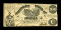 Confederate Notes:1861 Issues, T13 $100 1861 Cr. UNL PF-4 State I.. ...