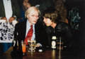 Photographs:Digital, Richard E. Aaron (American, 1949-2016). Mick Jagger and Andy Warhol, 1977. Digital pigment print, printed later. 26-1/2 ...