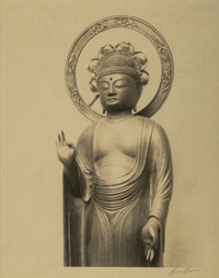 Ansel Adams (American, 1902-1984) Statue of the Buddha, 1927 Gelatin silver 8-1/2 x 6-1/2 inches