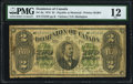 Canadian Currency, DC-9a $2 6.1.1878 PMG Fine 12.. ...