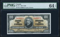 Canadian Currency, BC-27c $100 2.1.1937 PMG Choice Uncirculated 64 EPQ.. ...