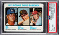 Baseball Cards:Singles (1970-Now), 1973 Topps Mike Schmidt/Ron Cey - Rookie 3rd Basemen #615 PSA NM-MT 8....