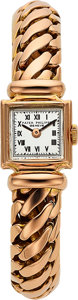 Timepieces:Wristwatch, Patek Philippe, Very Fine Rose Gold Lady's Watch, Circa 1940's. ...