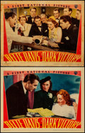 "Movie Posters:Drama, Dark Victory (Warner Brothers, 1939). Overall: Fine/Very Fine.Linen Finish Lobby Cards (2) (11"" X 14""). Drama.. ... (Total: 2Items)"