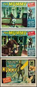 "Movie Posters:Horror, The Mummy (Universal International, 1959). Fine+ on Paper. TitleLobby Card & Lobby Cards (2) (11"" X 14""). Joseph Smi..."