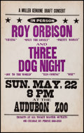 """Movie Posters:Rock and Roll, Roy Orbison and Three Dog Knight at Audubon Zoo (Miller GenuineDraft, 1988). Very Fine-. Concert Window Card (14"""" X ..."""