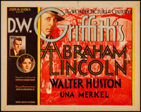 "Abraham Lincoln (United Artists, 1930). Very Fine-. Title Lobby Card (11"" X 14""). Drama"