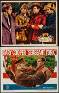"""Movie Posters:War, Sergeant York & Other Lot (Warner Brothers, R-1949). Fine onPaper. Lobby Card (11"""" X 14"""") & Trimmed Lobby Card (10.7..."""