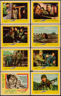 "Movie Posters:War, Attack! & Other Lot (United Artists, 1956). Very Fine-. LobbyCard Set of 8, Title Lobby Card, & Lobby Cards (6) (11""..."