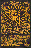 "Pop Shop Flyer by Keith Haring (1986). Rolled, Very Fine+. Poster (22"" X 34""). Miscellaneous"