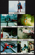 """Movie Posters:Action, Superman the Movie (Warner Brothers, 1978). Very Fine/Near Mint. Mini Lobby Cards (7) (8"""" X 10""""). Action.. ... (Total: 7 Items)"""