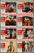 """Movie Posters:War, The Proud and Profane & Other Lot (Paramount, 1956). VeryFine-. Lobby Card Sets of 8 (2 Sets) (11"""" X 14""""). War.. ...."""