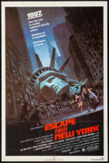 """Movie Posters:Science Fiction, Escape from New York (Avco Embassy, 1981). Folded, Very Fine-. One Sheet (27"""" X 41""""). Barry Jackson Artwork. Science Fiction..."""