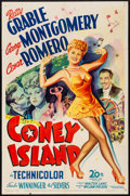"Movie Posters:Musical, Coney Island (20th Century Fox, 1943). Folded, Fine/Very Fine. One Sheet (27"" X 41""). Musical.. ..."