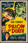"""Movie Posters:Horror, Pillow of Death (Universal, 1945). Folded, Fine/Very Fine. OneSheet (27"""" X 41""""). Horror.. ..."""