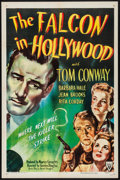 """Movie Posters:Mystery, The Falcon in Hollywood (RKO, 1944). Folded, Very Fine-. One Sheet(27"""" X 41""""). Mystery.. ..."""