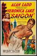 "Movie Posters:Drama, Saigon (Paramount, 1948). Folded, Fine/Very Fine. One Sheet (27"" X41""). Drama.. ..."