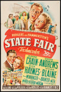 "Movie Posters:Musical, State Fair (20th Century Fox, 1945). Folded, Fine/Very Fine. OneSheet (27"" X 41""). Musical.. ..."