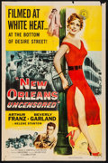 "Movie Posters:Crime, New Orleans Uncensored (Columbia, 1955). Folded, Fine+. One Sheet(27"" X 41""). Crime.. ..."
