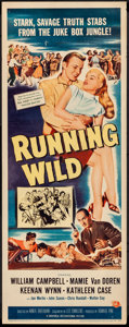 "Movie Posters:Bad Girl, Running Wild (Universal International, 1955). Rolled, Fine/Very Fine. Insert (14"" X 36""). Bad Girl.. ..."