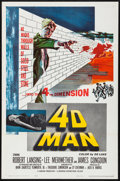 """Movie Posters:Science Fiction, 4D Man (Universal International, 1959). Folded, Very Fine. OneSheet (27"""" X 41""""). Science Fiction.. ..."""