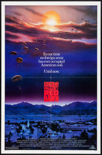 "Red Dawn (MGM, 1984). Folded, Very Fine-. One Sheet (27"" X 41""). John Alvin Artwork. Action"
