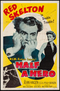 Movie Posters:Comedy, Half a Hero & Other Lot (MGM, 1953). Folded, Fine+.