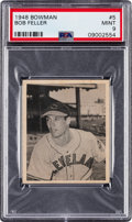 Baseball Cards:Singles (1940-1949), 1948 Bowman Bob Feller #5 PSA Mint 9 - Two Higher. ...